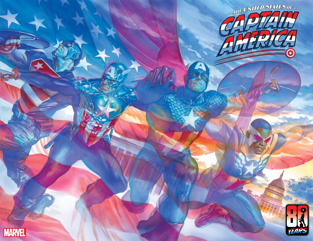USCAPA2021001_Cov Four heroes celebrate an 80th anniversary in THE UNITED STATES OF CAPTAIN AMERICA