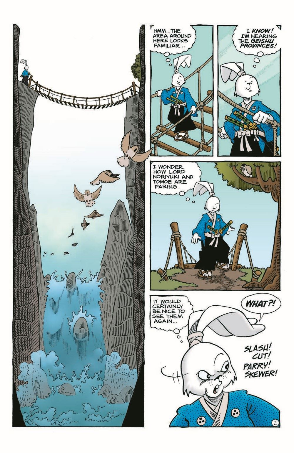 Usagi-WR05_pr-3 ComicList Previews: USAGI YOJIMBO WANDERER'S ROAD #5 (OF 6)