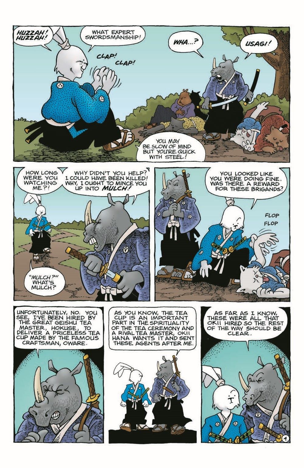Usagi-WR05_pr-6 ComicList Previews: USAGI YOJIMBO WANDERER'S ROAD #5 (OF 6)
