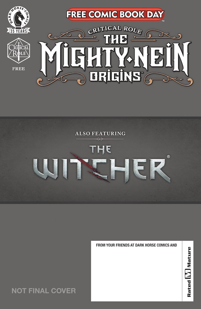 fcbdGOLDcov CRITICAL ROLE/THE WITCHER flip-book to be published for FCBD 2021