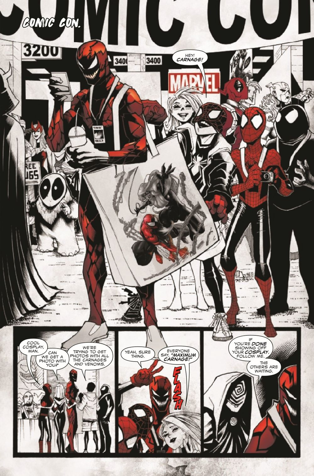CARNBLKWHBL2021003_Preview-6 ComicList Previews: CARNAGE BLACK WHITE AND BLOOD #3 (OF 4)