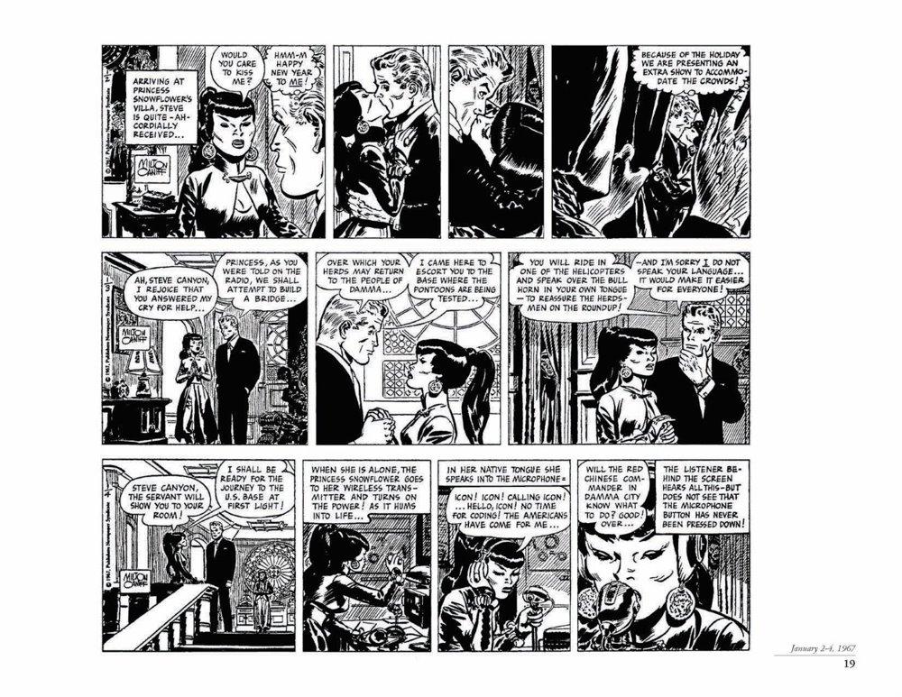 Canyon11_pr-4 ComicList Previews: STEVE CANYON VOLUME 11 1967-1968 HC