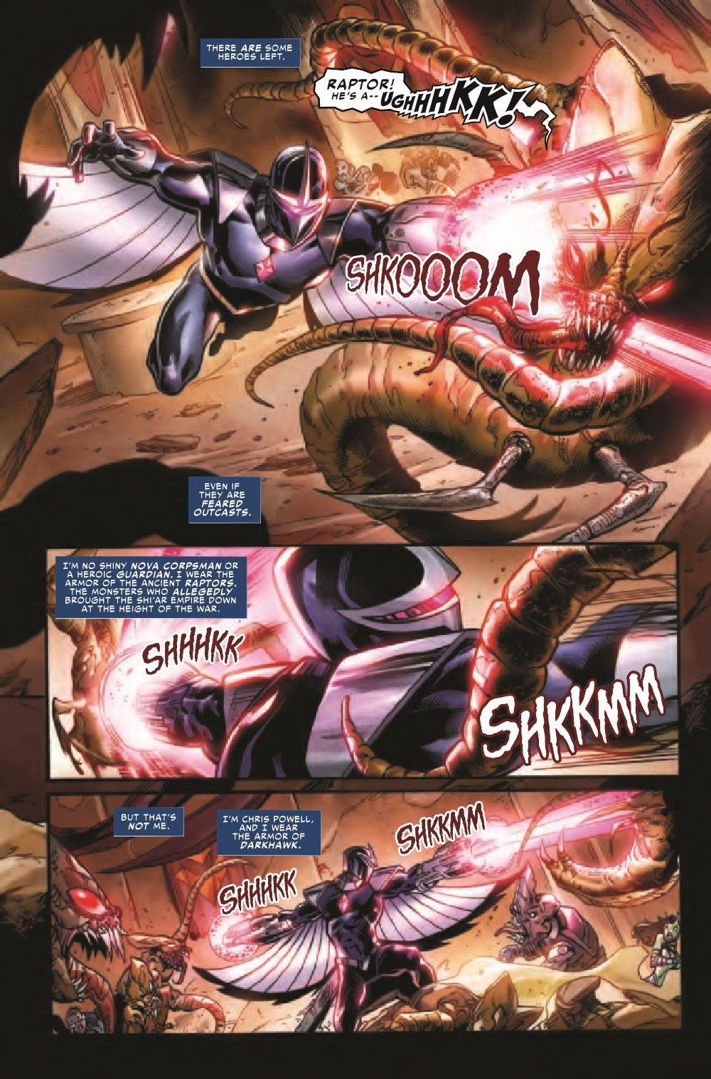 DRKHWKHOH2021001_Preview-5 ComicList Previews: DARKHAWK HEART OF THE HAWK #1