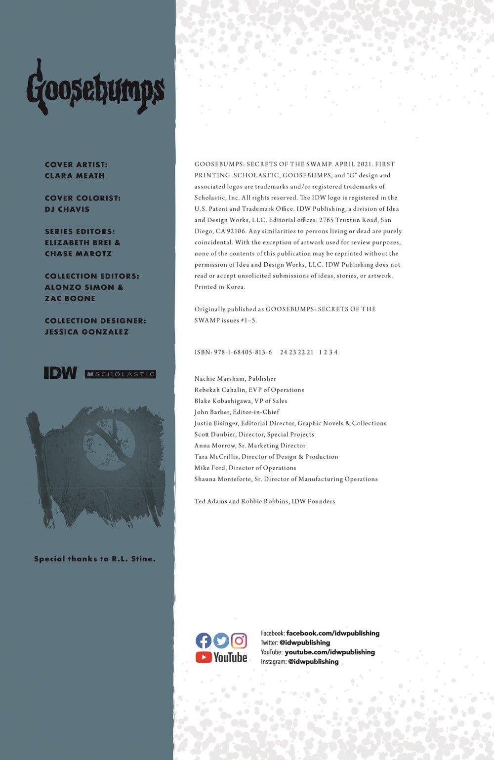 GB_SotS_VOL1_pr-2 ComicList Previews: GOOSEBUMPS SECRET OF THE SWAMP TP