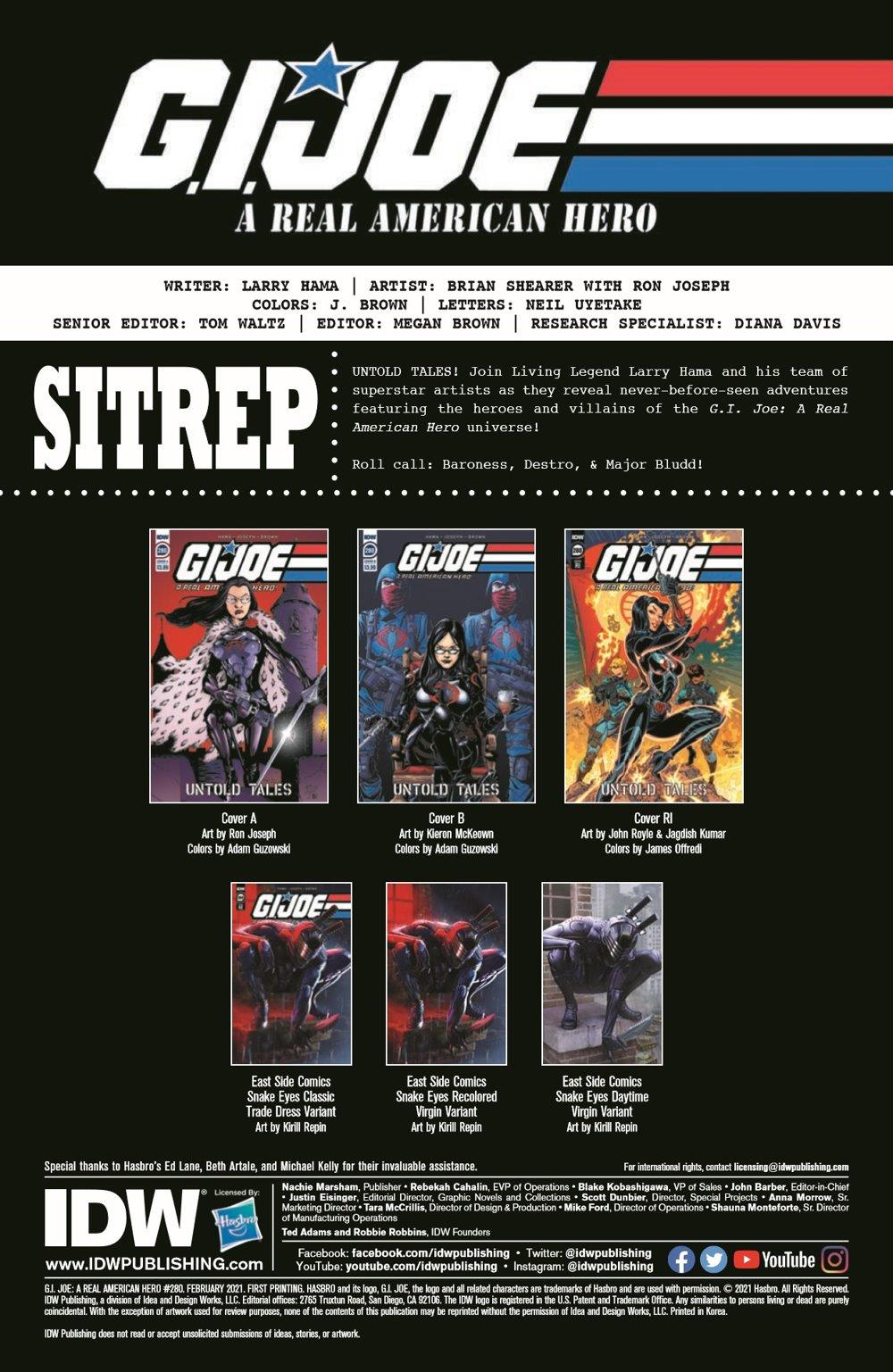 GIJoeRAH280-pr-2 ComicList Previews: G.I. JOE A REAL AMERICAN HERO #280