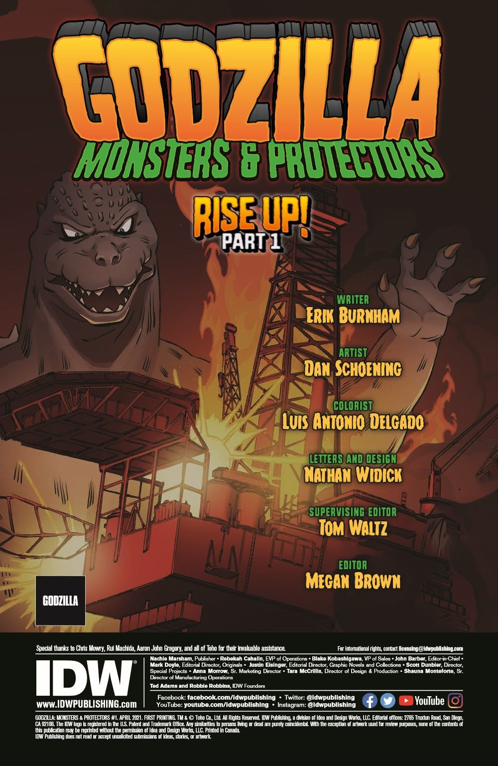 Godzilla_MnP_01_pr-2 ComicList Previews: GODZILLA MONSTERS AND PROTECTORS #1 (OF 5)
