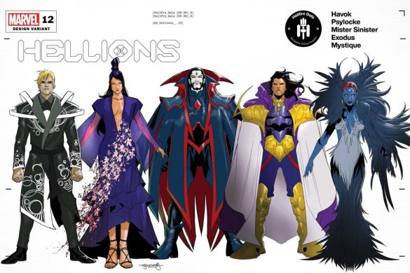 HELLIONS2020012_Design_variant Mutant fashion will be found on the Hellfire Gala Design Covers