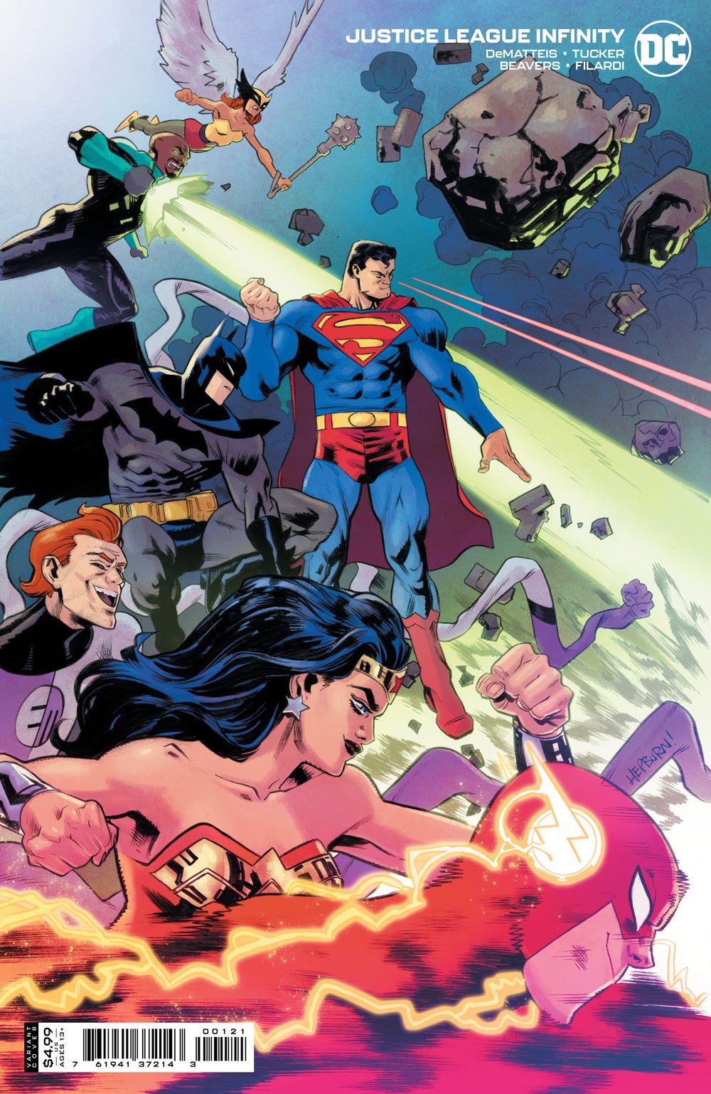 JLINFINITY_Cv1_var DC Comics July 2021 Solicitations