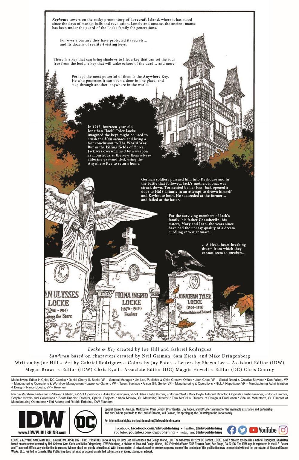 LnK-Sandman01_pr-2 ComicList Previews: LOCKE AND KEY THE SANDMAN UNIVERSE HELL AND GONE #1