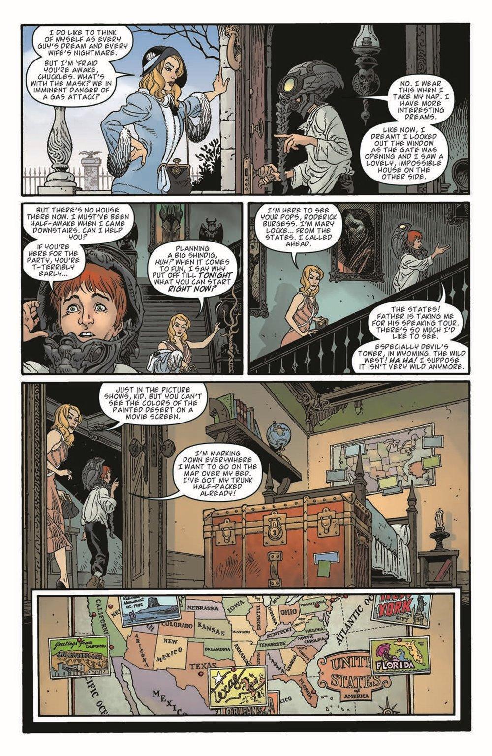 LnK-Sandman01_pr-7 ComicList Previews: LOCKE AND KEY THE SANDMAN UNIVERSE HELL AND GONE #1