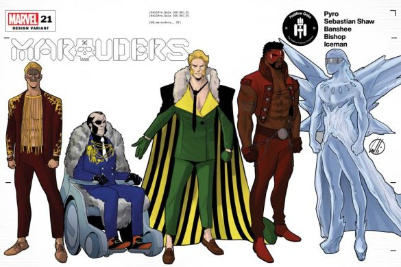 MARAUDERS2019021_Design_variant Mutant fashion will be found on the Hellfire Gala Design Covers