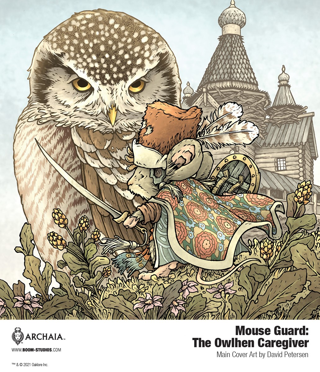 MouseGuard_OwlhenCaregiver_Cover_PROMO MOUSE GUARD welcomes back David Petersen in THE OWLHEN CAREGIVER