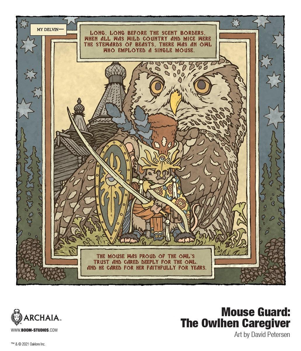 MouseGuard_OwlhenCaregiver_InteriorArt_002_PROMO MOUSE GUARD welcomes back David Petersen in THE OWLHEN CAREGIVER