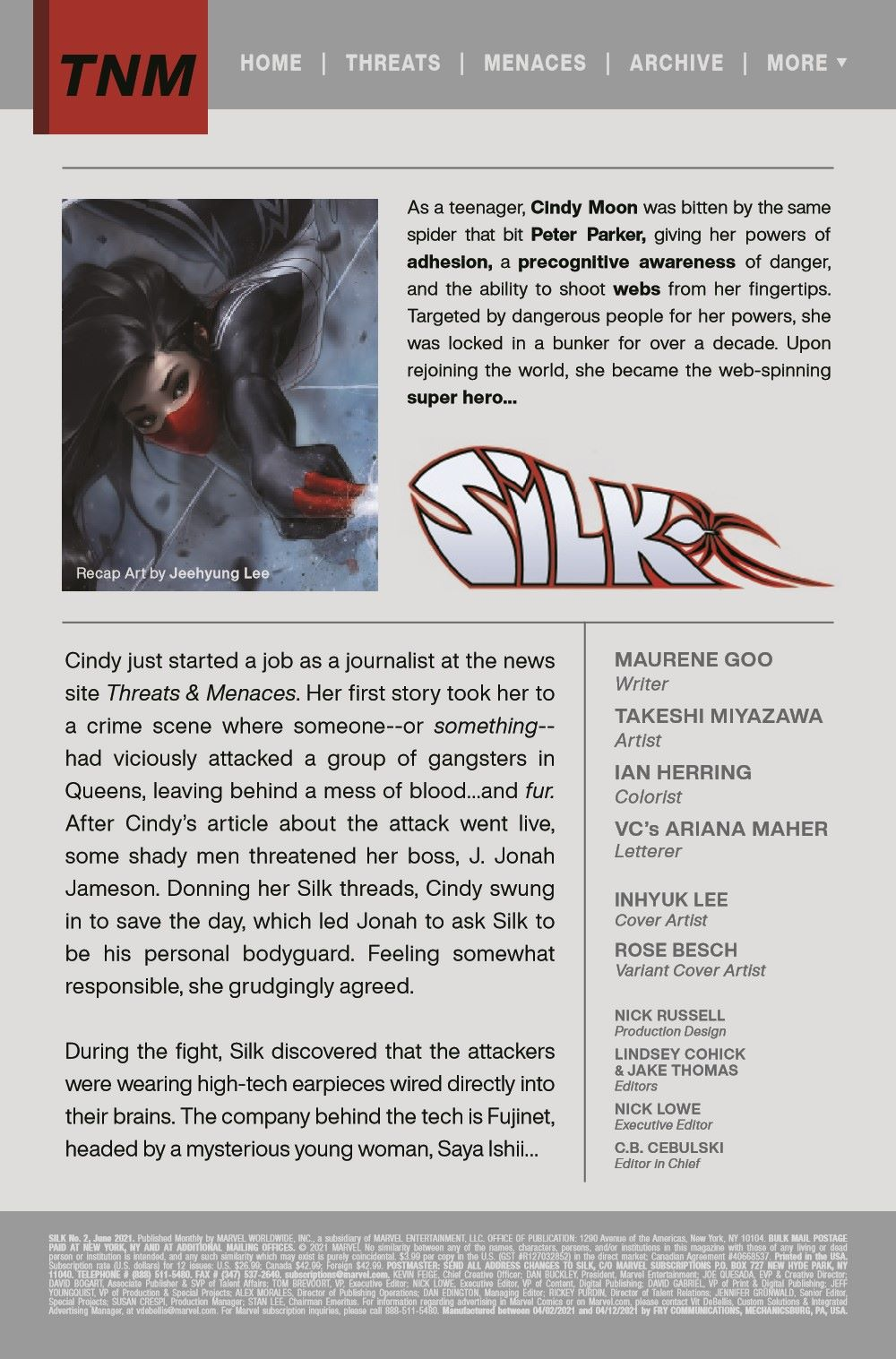 SILK2021002_Preview-2 ComicList Previews: SILK #2 (OF 5)