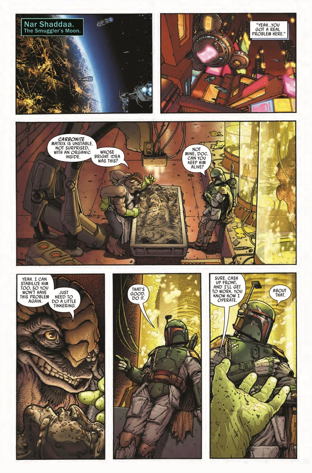 STWWAROTBHA2021001_Preview-6 ComicList Previews: STAR WARS WAR OF THE BOUNTY HUNTERS ALPHA #1