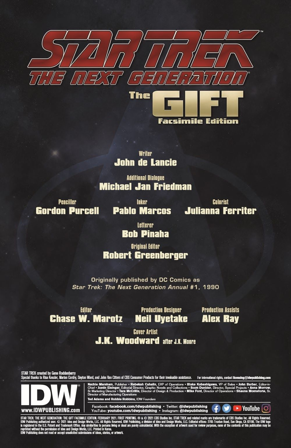 ST_TNG-TheGift-pr-2 ComicList Previews: STAR TREK THE NEXT GENERATION THE GIFT #1