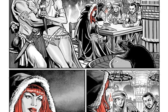 Sonja_BWR_02FLAT RED SONJA: BLACK, WHITE, RED to feature the finest talent