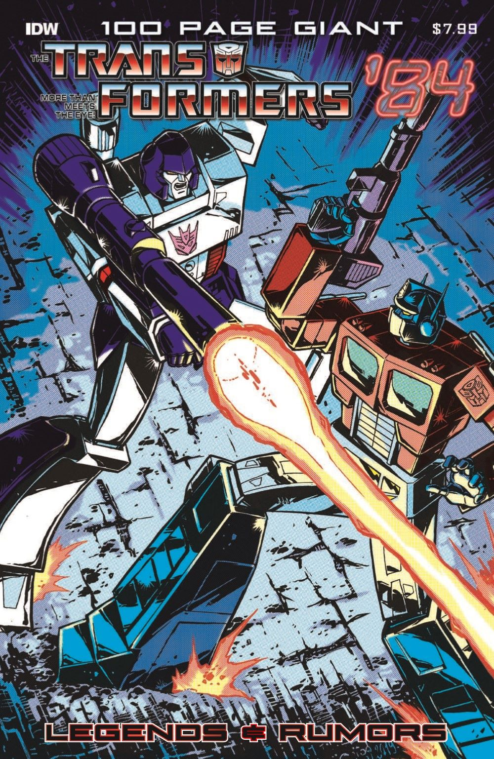 TF84-100PgGiant-pr-1 ComicList Previews: TRANSFORMERS '84 LEGENDS AND RUMORS 100-PAGE GIANT #1