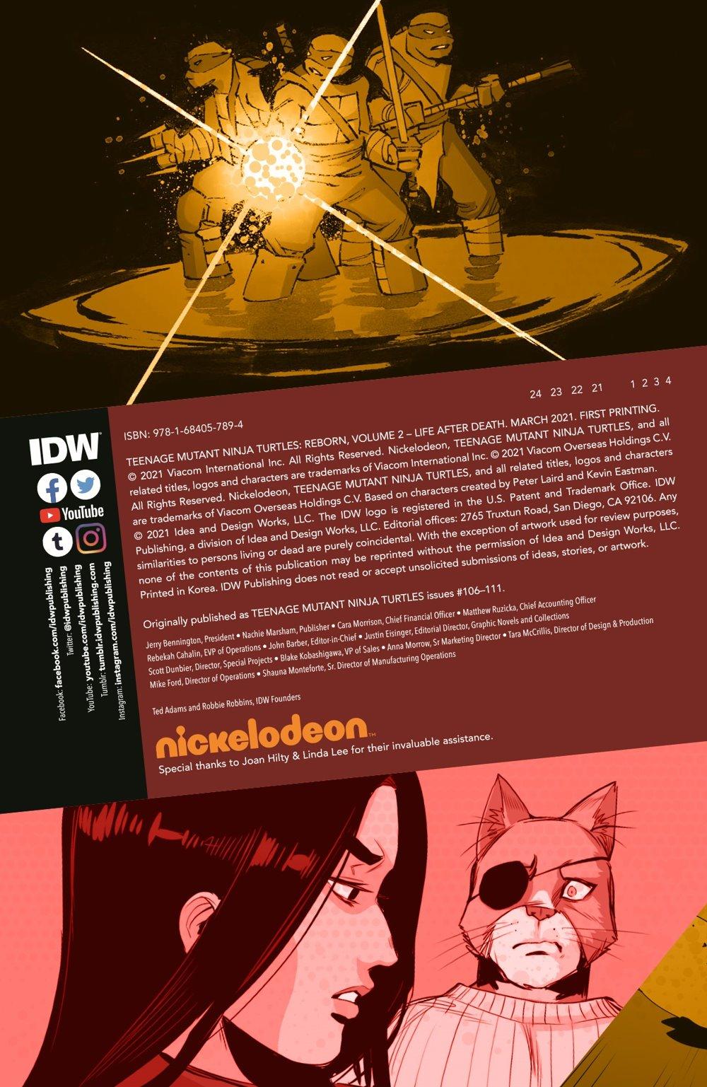 TMNT-Reborn02_pr-2 ComicList Previews: TEENAGE MUTANT NINJA TURTLES REBORN VOLUME 2 LIFE AFTER DEATH TP