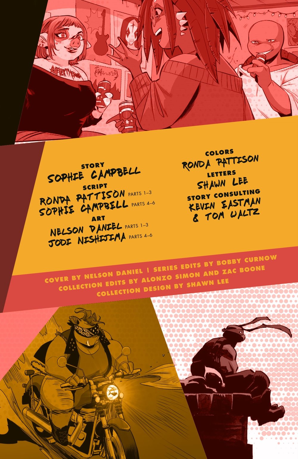 TMNT-Reborn02_pr-3 ComicList Previews: TEENAGE MUTANT NINJA TURTLES REBORN VOLUME 2 LIFE AFTER DEATH TP