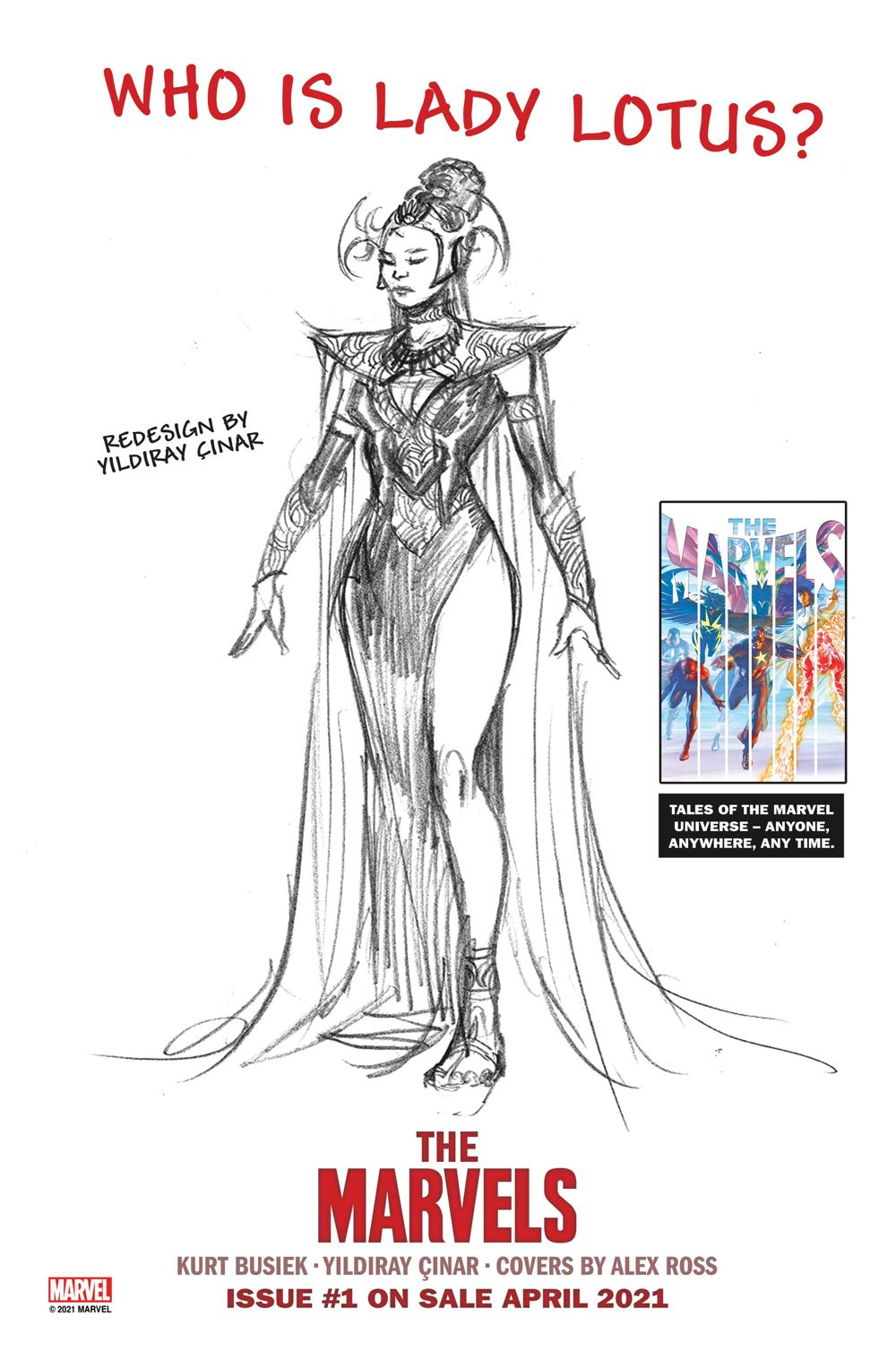 TheMarvels-LadyLotus-v2 THE MARVELS #1 will introduce new heroes and villains