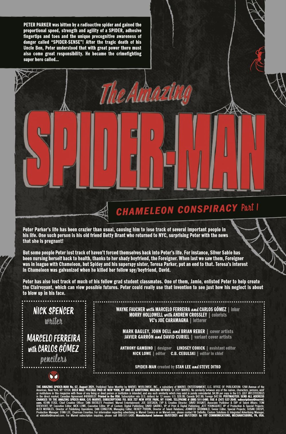 ASM2018067_Preview-2 ComicList Previews: THE AMAZING SPIDER-MAN #67