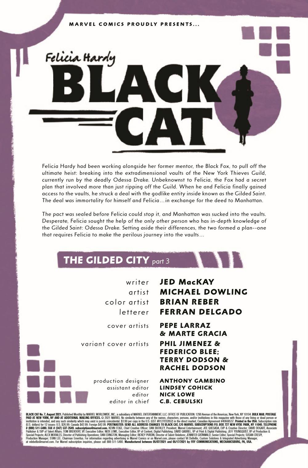 BLACKCAT2020007_Preview-2 ComicList Previews: BLACK CAT #7