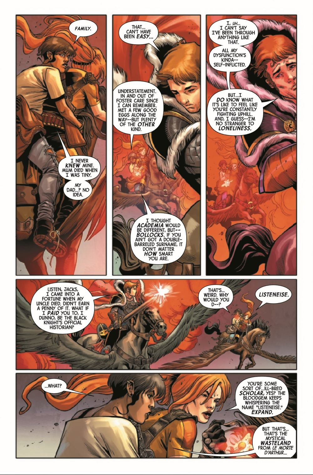 BLKKNGHTCURSE2021003_Preview-2 ComicList Previews: BLACK KNIGHT CURSE OF THE EBONY BLADE #3 (OF 5)