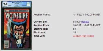 CGC-9.8-Newsstand-300x149 1 Comic, 5 Auction Lots: Wolverine Limited Series #1