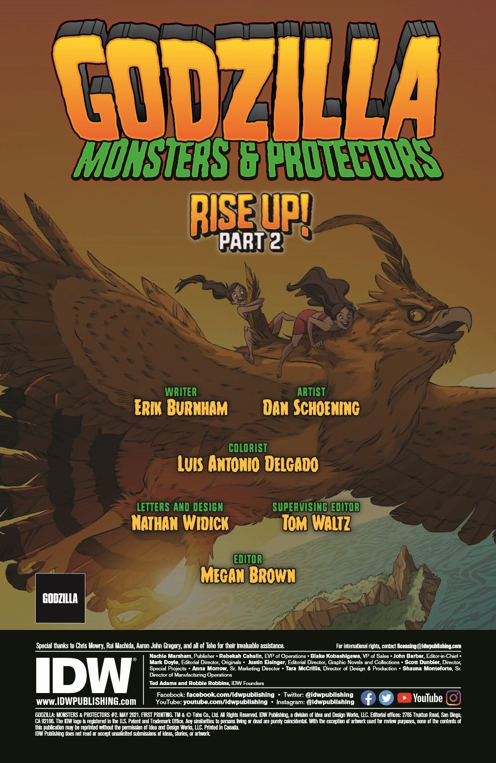 Godzilla_MnP_02_pr-2 ComicList Previews: GODZILLA MONSTERS AND PROTECTORS #2 (OF 5)