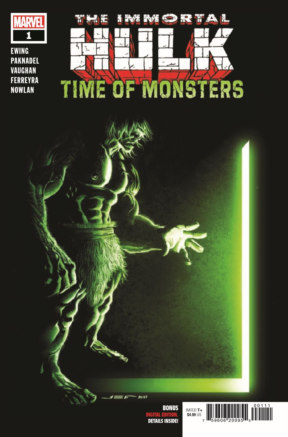 HULKTOMONSTR2021001_Preview-1 ComicList Previews: THE IMMORTAL HULK TIME OF MONSTERS #1