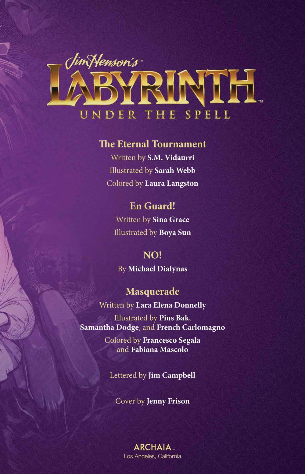 Labyrinth_UnderSpell_HC_PRESS_7 ComicList Previews: JIM HENSON'S LABYRINTH UNDER THE SPELL HC