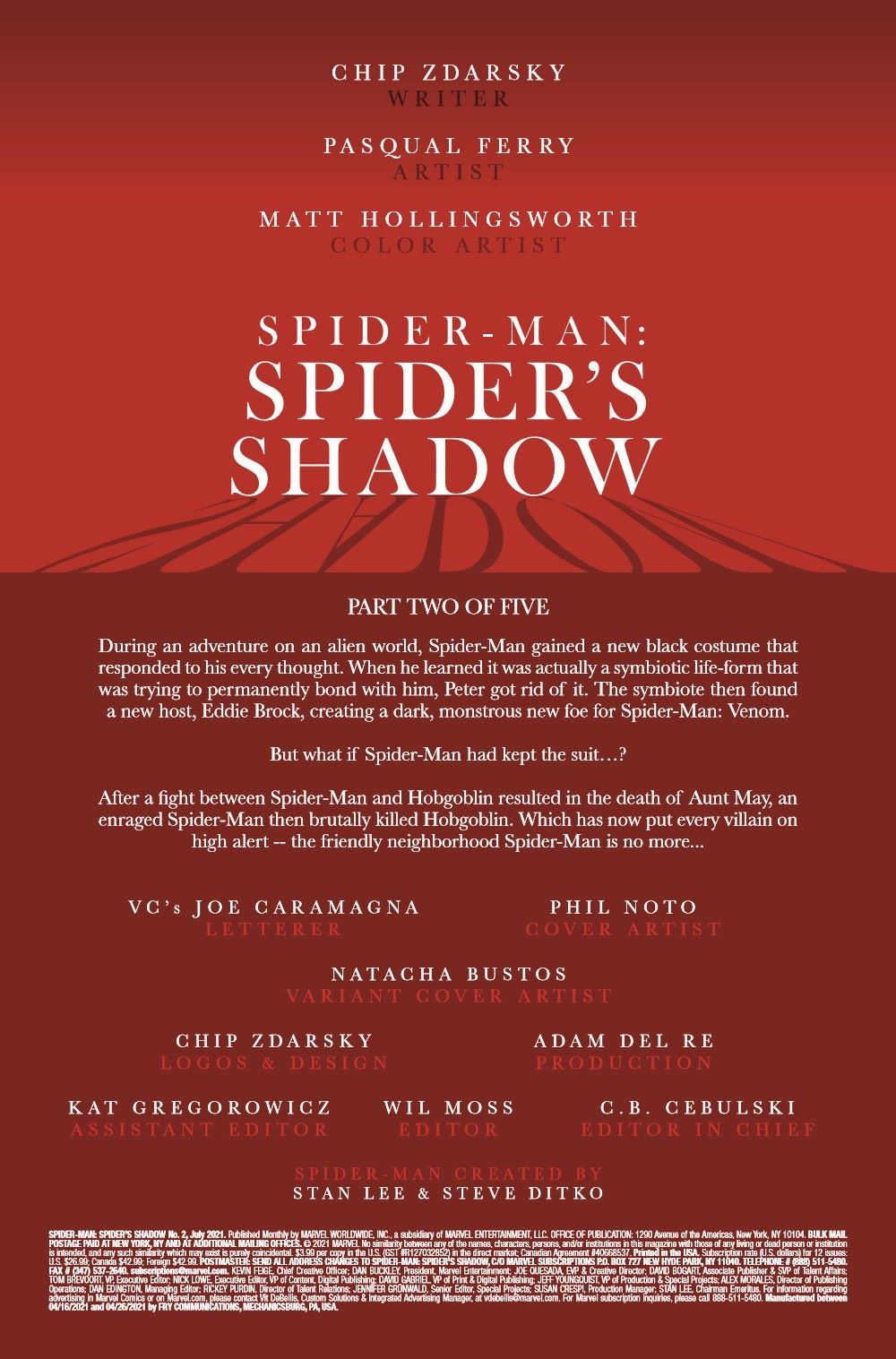 SMSPIDERSHADOW2021002_Preview-2 ComicList Previews: SPIDER-MAN SPIDER'S SHADOW #2 (OF 4)