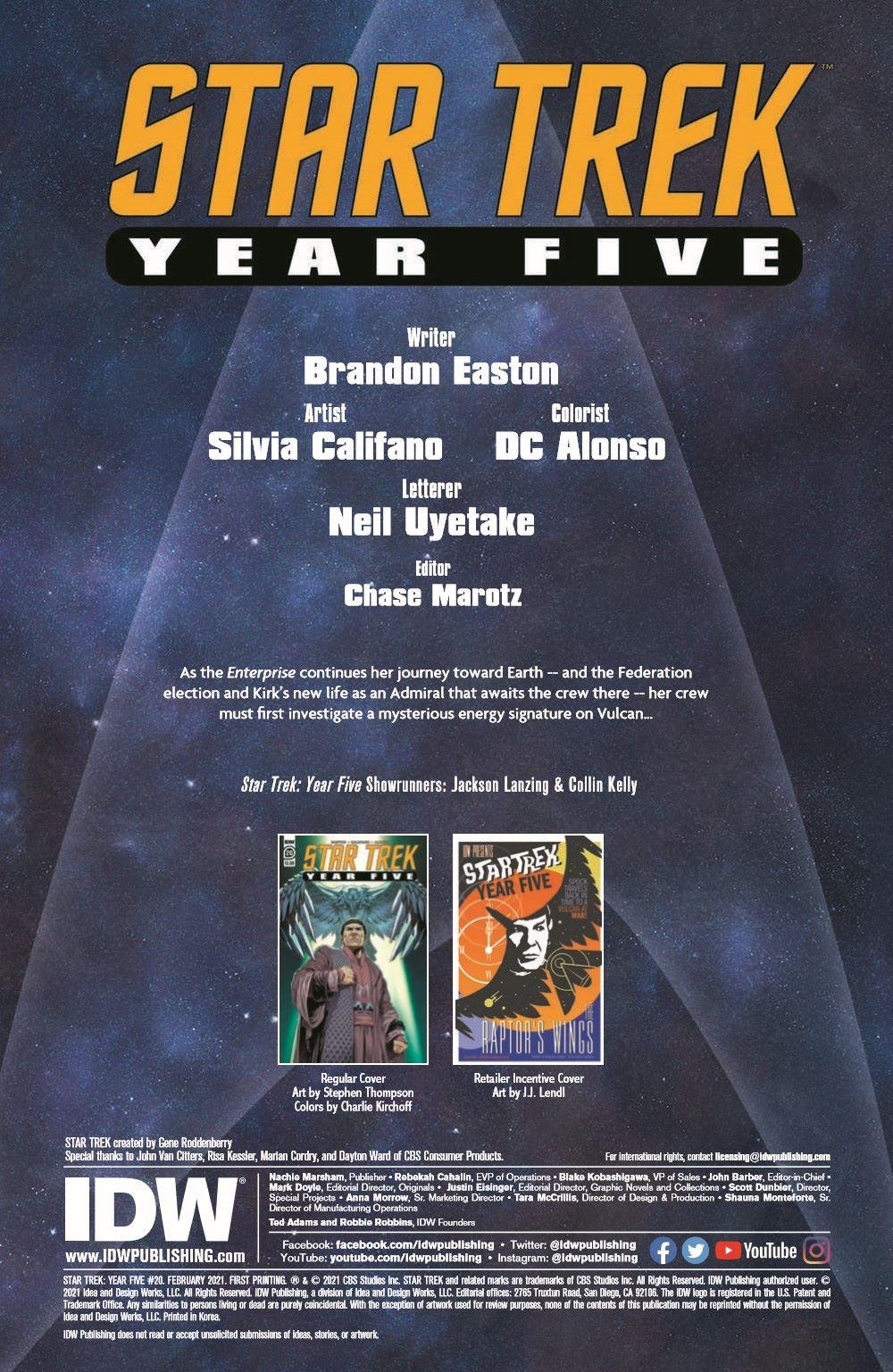ST_YearFive20-pr-2 ComicList Previews: STAR TREK YEAR FIVE #20