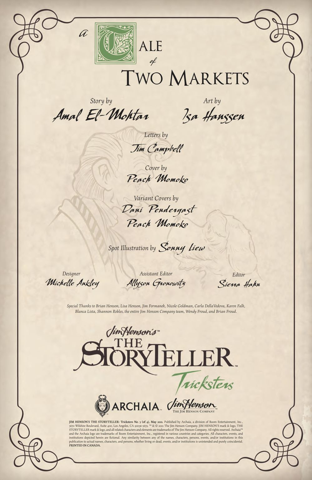 StorytellerTricksters_003_PRESS_2 ComicList Previews: JIM HENSON'S THE STORYTELLER TRICKSTERS #3 (OF 4)