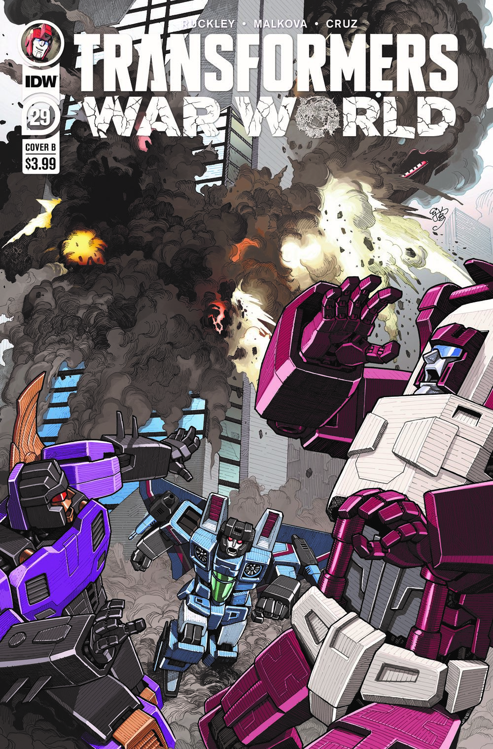 TF29-cvr-B-rev ComicList Previews: TRANSFORMERS #29