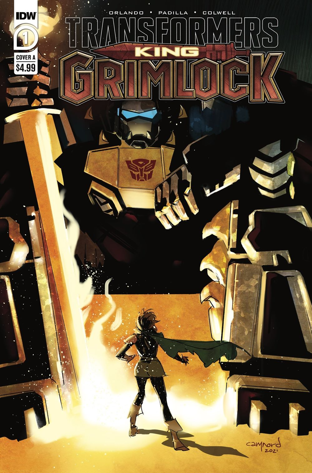 Transformers-King-Grimlock-1-Cover-A-by-Cary-Nord IDW Publishing August 2021 Solicitations