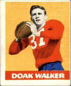 doak-walker1-e1621013200458-247x300 Sport Card Collecting 101: 1948 Leaf Football Kicks Off Football Card Collecting!