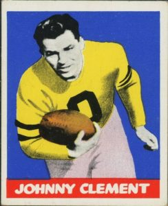 john-clement-e1621013356317-244x300 Sport Card Collecting 101: 1948 Leaf Football Kicks Off Football Card Collecting!