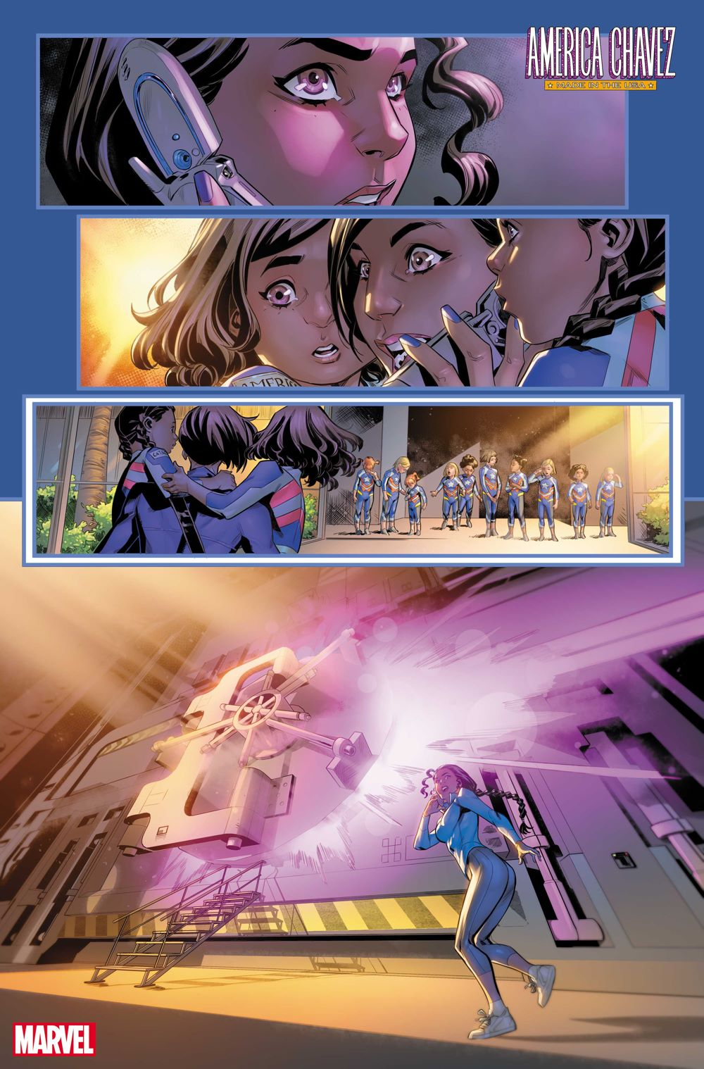 AMERCHAVEZUSA2021004_3 First Look at AMERICA CHAVEZ: MADE IN THE USA #4 from Marvel Comics