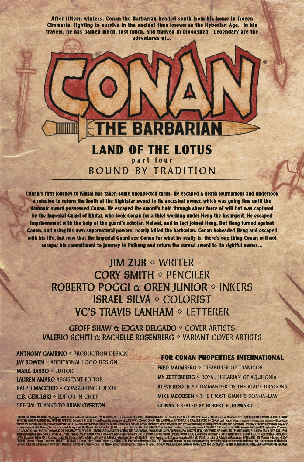 CONANBARB2019022_Preview-2 ComicList Previews: CONAN THE BARBARIAN #22
