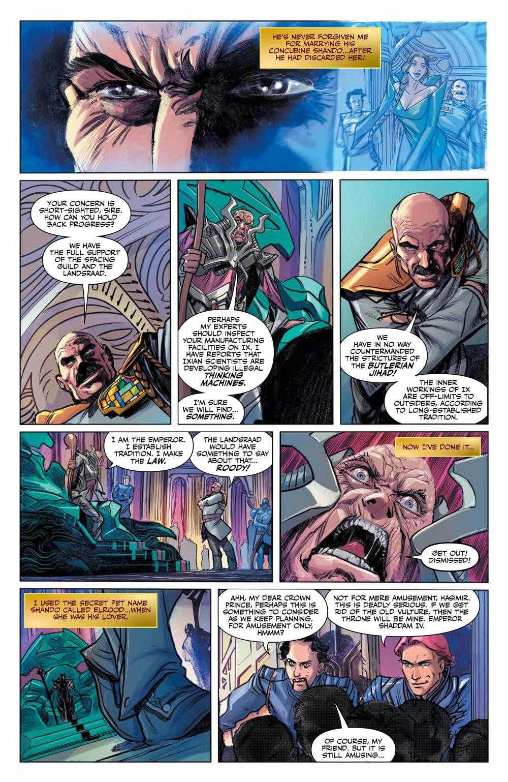 Dune_HouseAtreides_v1_HC_PRESS_18 ComicList Previews: DUNE HOUSE ATREIDES VOLUME 1 HC