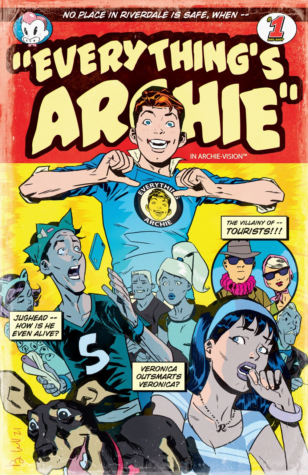 EverythingsArchie_01_CoverB_Caldwell ComicList Previews: ARCHIE 80TH ANNIVERSARY EVERYTHING'S ARCHIE #1