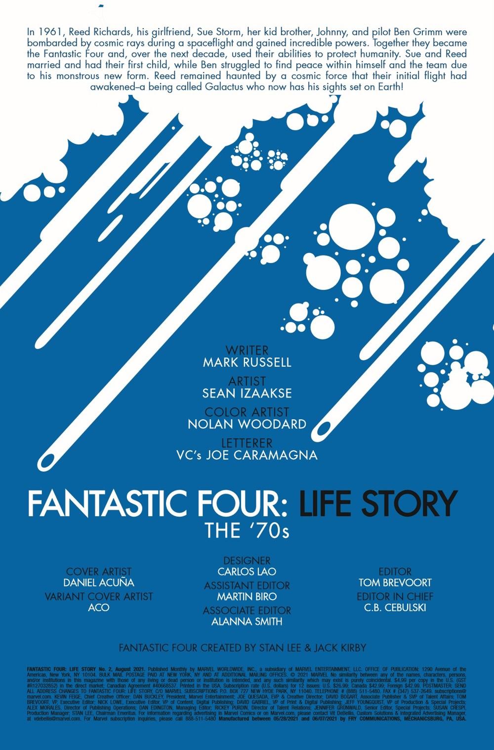 FFLIFESTORY2019002_Preview-2 ComicList Previews: FANTASTIC FOUR LIFE STORY #2 (OF 6)