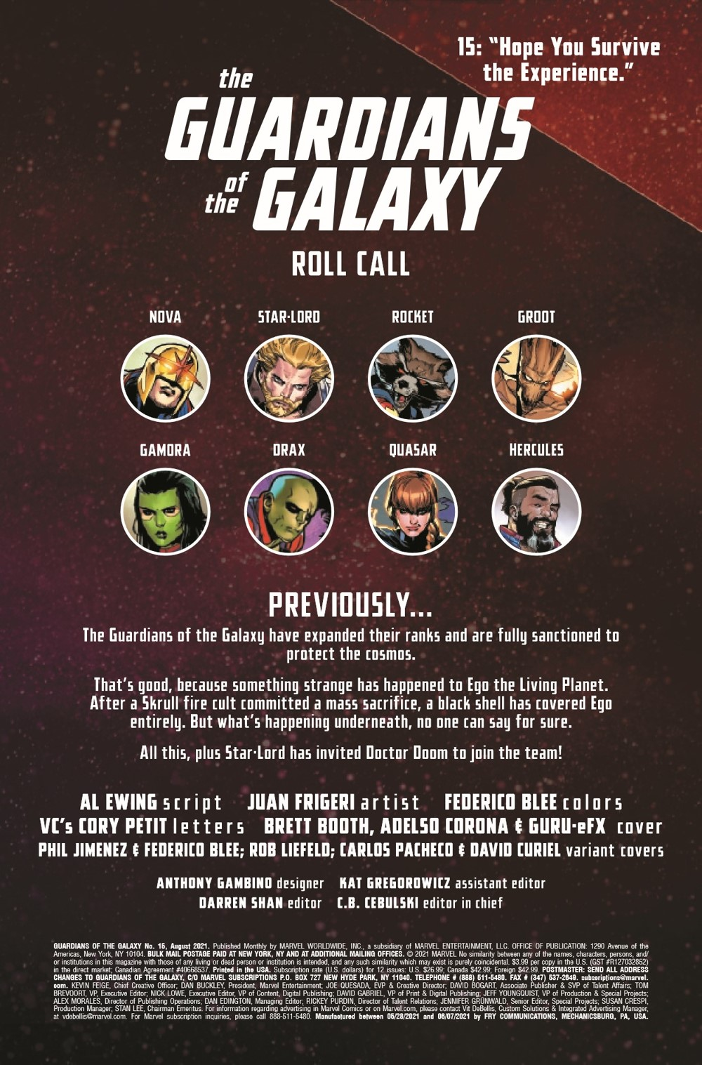 GARGAL2020015_Preview-2 ComicList Previews: GUARDIANS OF THE GALAXY #15