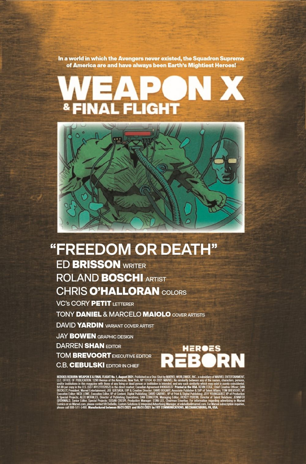 HRWEAPXFINALF2021001_Preview-2 ComicList Previews: HEROES REBORN WEAPON X AND FINAL FLIGHT #1