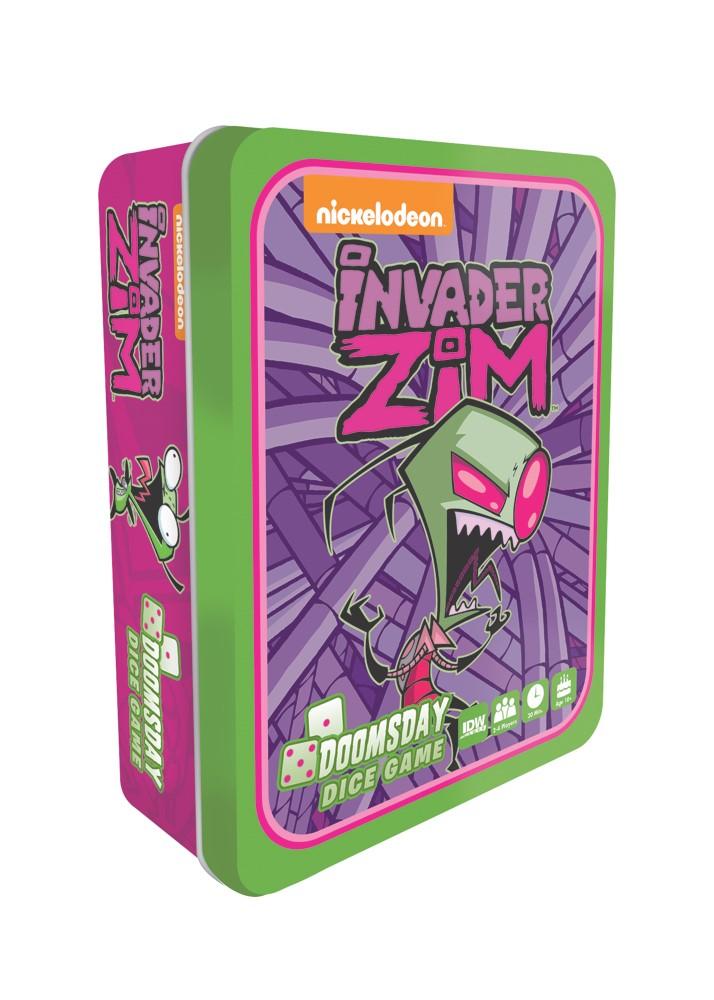 InvaderZimDoomsdayDiceGame_Box_Mock IDW Publishing September 2021 Solicitations