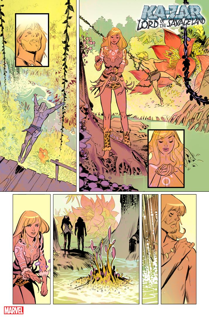 KAZARLOSL2021001_1 First Look at KA-ZAR: LORD OF THE SAVAGE LAND #1 from Marvel Comics
