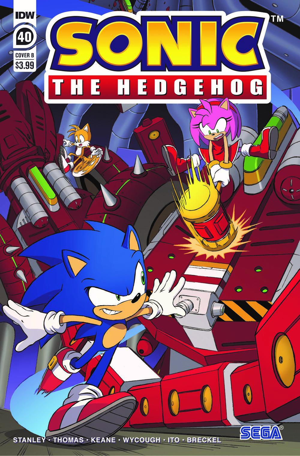 STH40_cvrB ComicList Previews: SONIC THE HEDGEHOG #40