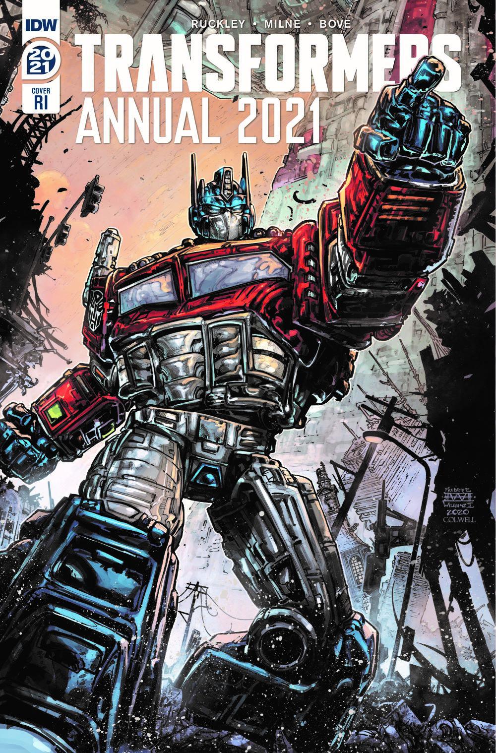 TF2021AnnualCover-RI ComicList Previews: TRANSFORMERS ANNUAL 2021